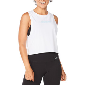 2XU Form Crop Tank Women, white/white